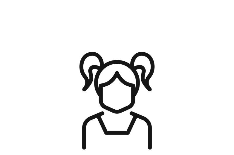 Teenage Girl Vector Icon By Microvector Thehungryjpeg Com