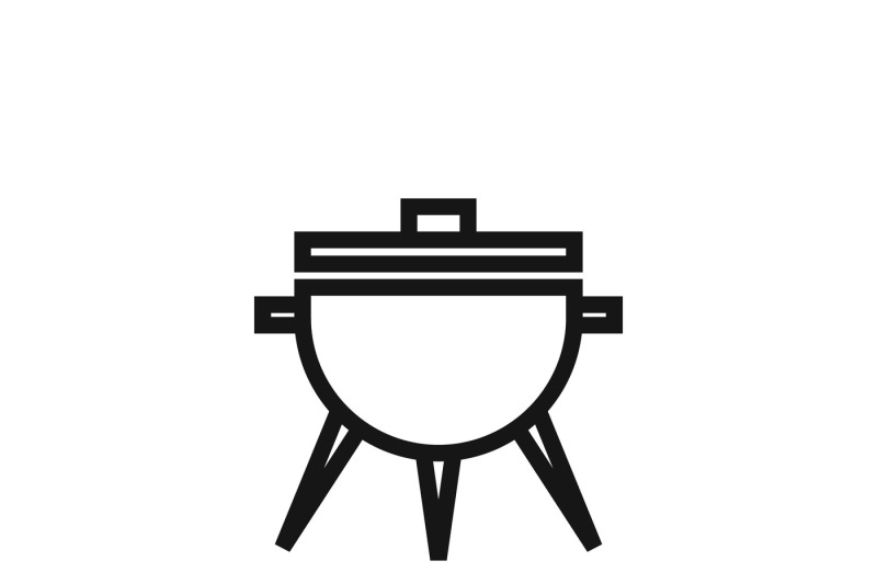 Bbq Symbol Or Meal Cooking Grill Vector Icon By Microvector