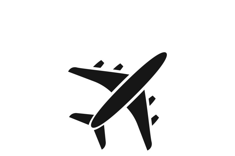 Black Air Plane Silhouette Vector Icon By Microvector