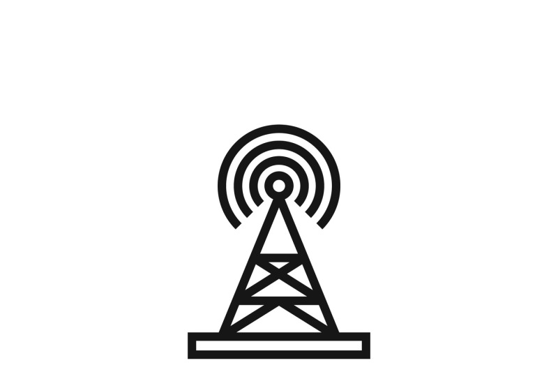 Broadcasting Tower Or Broadcast Station Vector Icon By Microvector