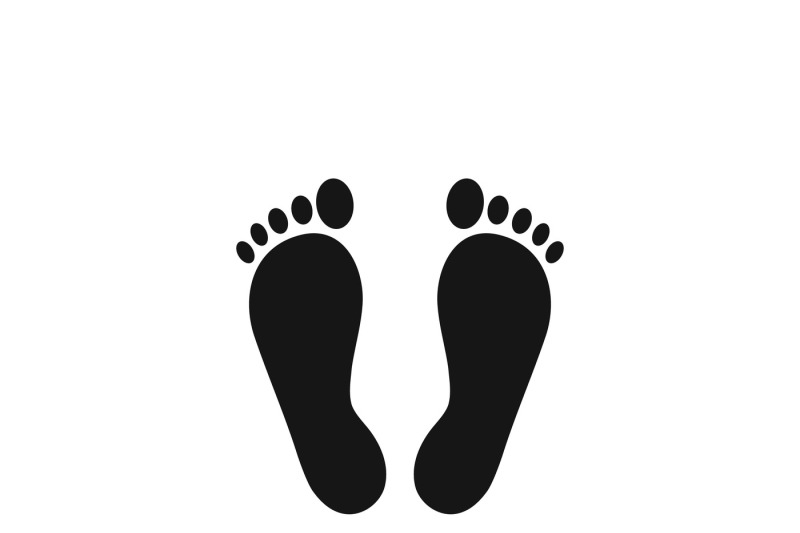 Footprints Or Human Foot Prints Vector Icon By Microvector
