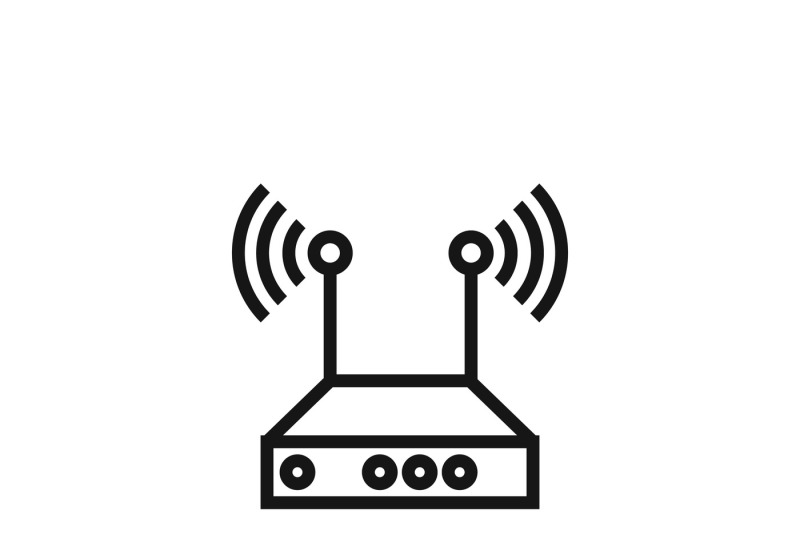 Internet Network Wireless Router Vector Icon By Microvector