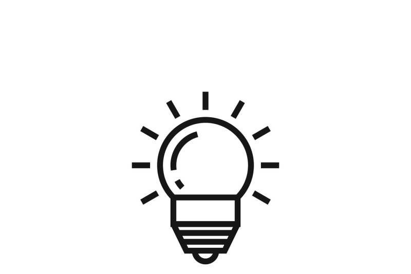 Lightbulb Or Innovation And Idea Vector Icon By Microvector
