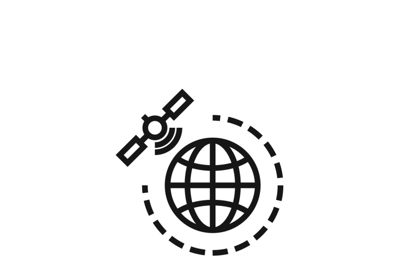 World Gps Satellite Vector Icon By Microvector Thehungryjpeg Com