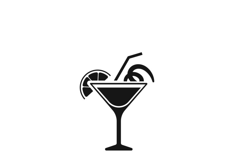Cocktail Glass Sign Like Margarita Vector Icon By Microvector