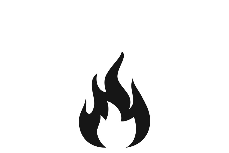 Fire Sign Flammable Wildfire Or Hot Vector Icon By Microvector