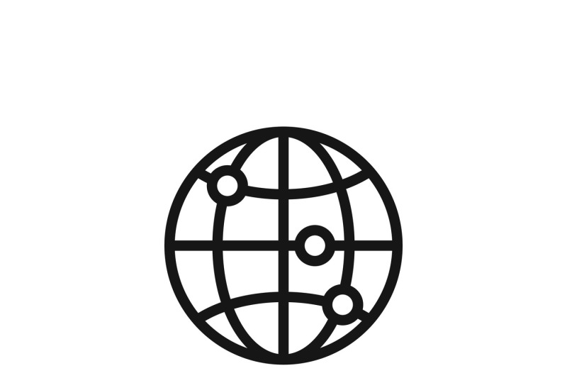Internet Globe Earth World Vector Icon By Microvector