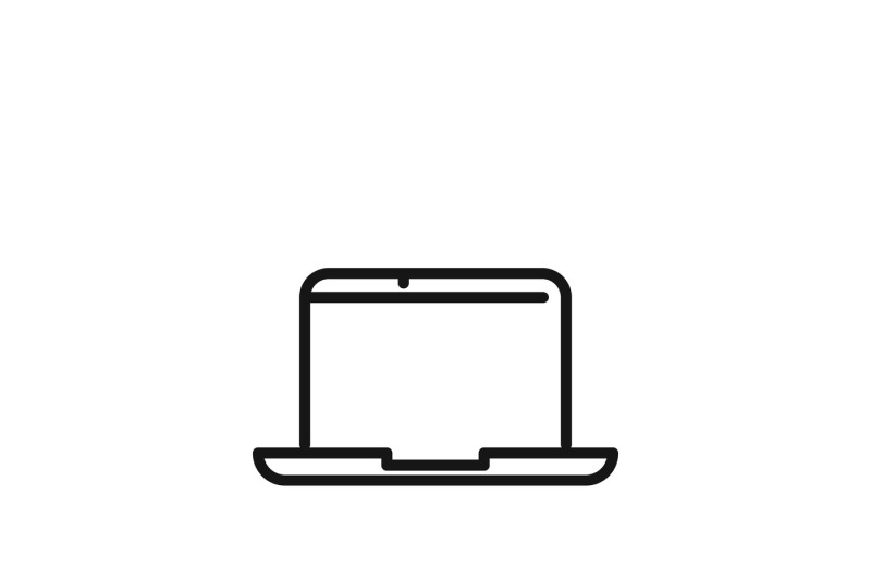Laptop Sign Or Modern Outdoors Computer Vector Icon By Microvector