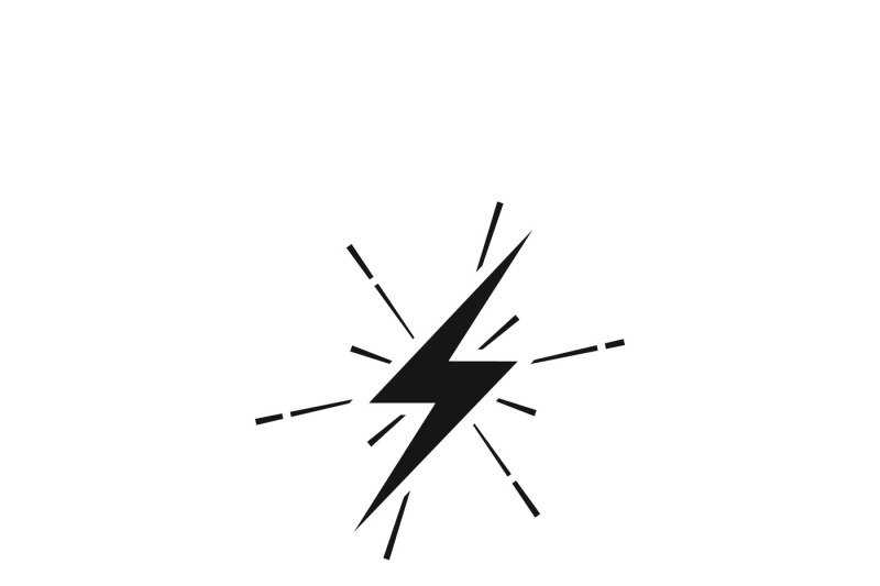 Lightning thunderbolt sign or strike electric bolt vector icon By