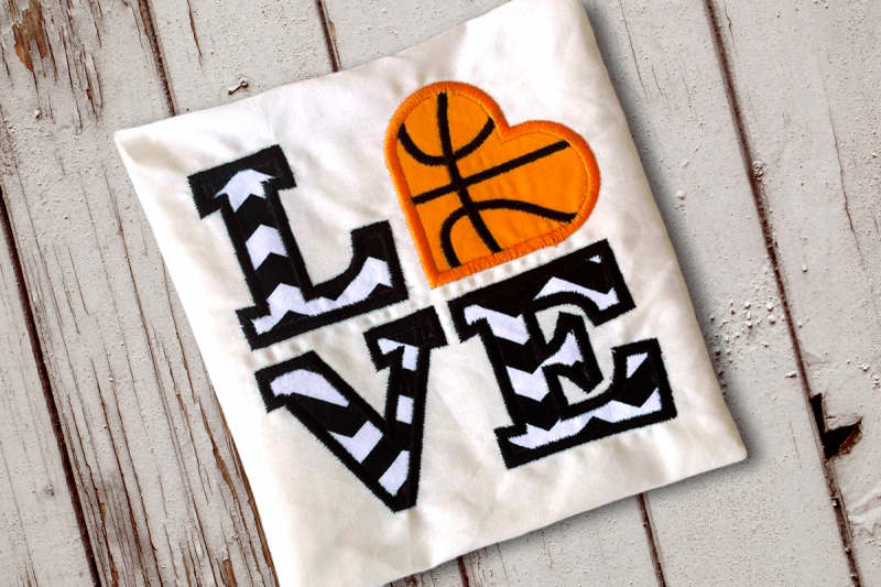 Free LOVE Basketball Applique Embroidery SVG - Download SVG Files Quotes