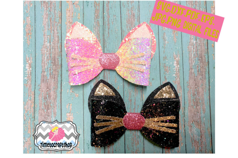 This is an image of Free Printable Hair Bow Templates in cut out