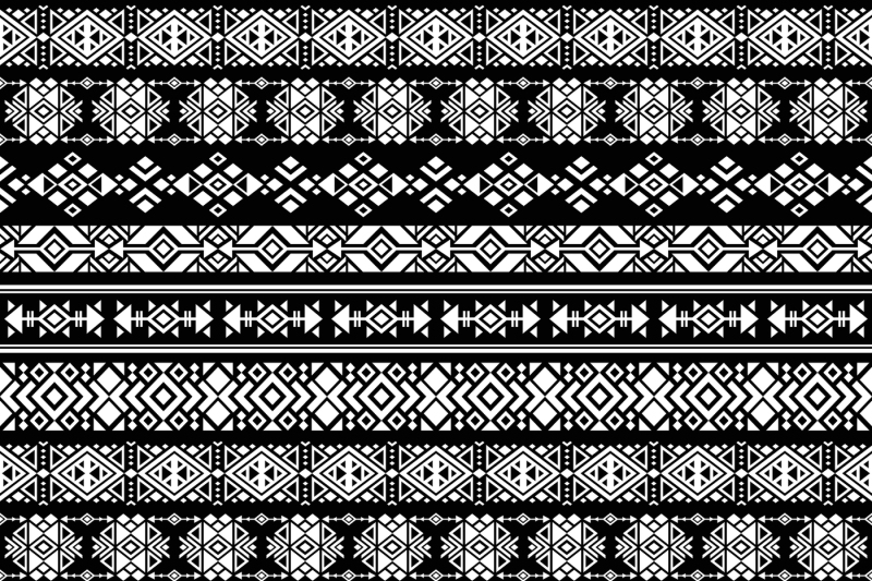 American nativity aztec, tribal peruvian vector seamless pattern By