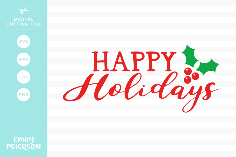 Download Happy Holidays Vector Cut Files Image