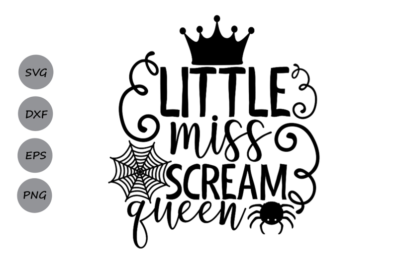 Little Miss Scream Queen Svg Halloween Svg Halloween Girl Svg Scalable Vector Graphics Design All Free Svg File Cameo
