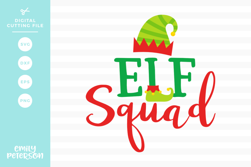 Free Elf Squad Svg Dxf Svg Download Free Commercial Use Cut Files For Silhouette Portrait Or Cameo And Cricut Explore