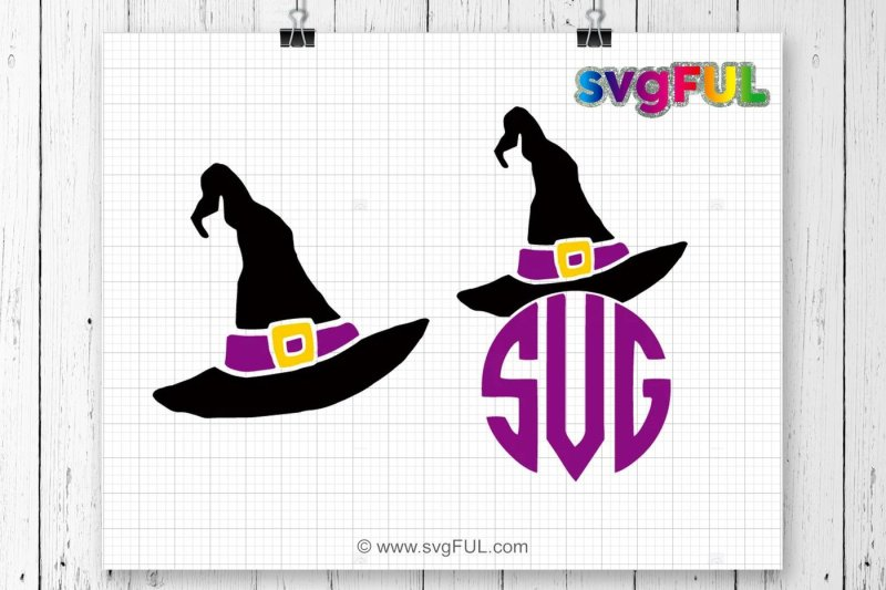 Free Witch Hat Monogram Svg Witch Hat Svg Halloween Svg Silhouette Svg Free Incredibles Svg File