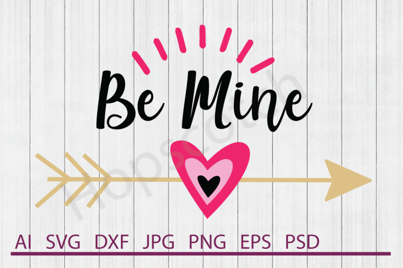 Arrow Heart Svg Arrow Heart Dxf Cuttable File By Hopscotch