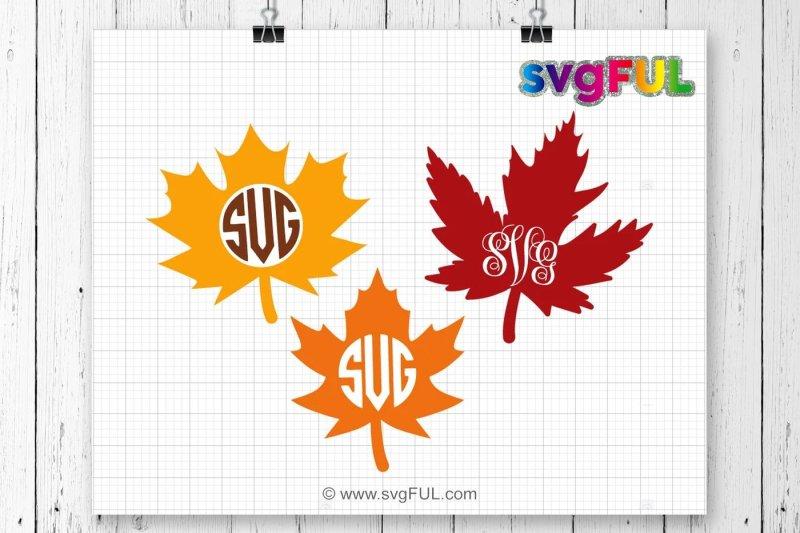 Free Fall Leaf Monogram Svg Maple Leaf Svg Fall Leaf Svg Thanksgiving Svg Free Downloads 9 000 Svg Images
