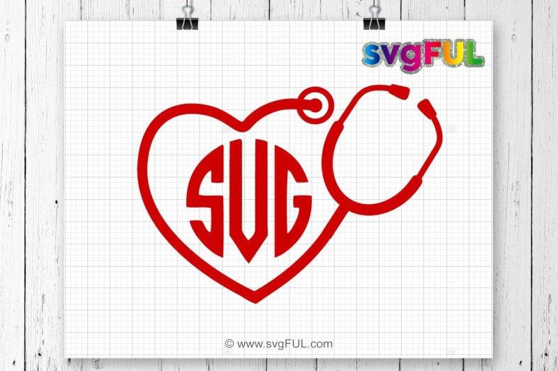 heart monogram stethoscope svg  stethoscope svg  heart