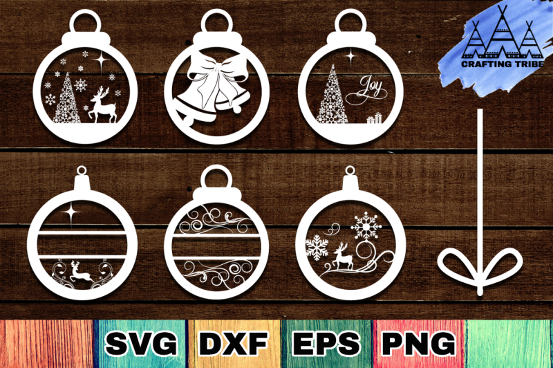 Christmas Ornaments Svg Cut Files Pack Design Free Download Svg Files Step Family