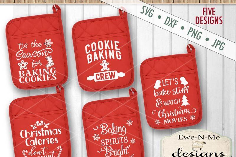Christmas Pot Holder Bundle Svg By Ewe N Me Designs