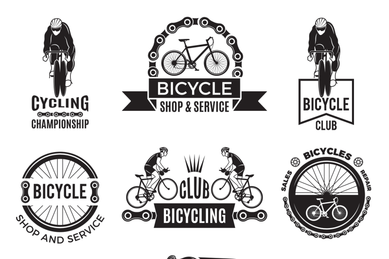 Labels set for bicycle club  Velo sport logos design By ONYX