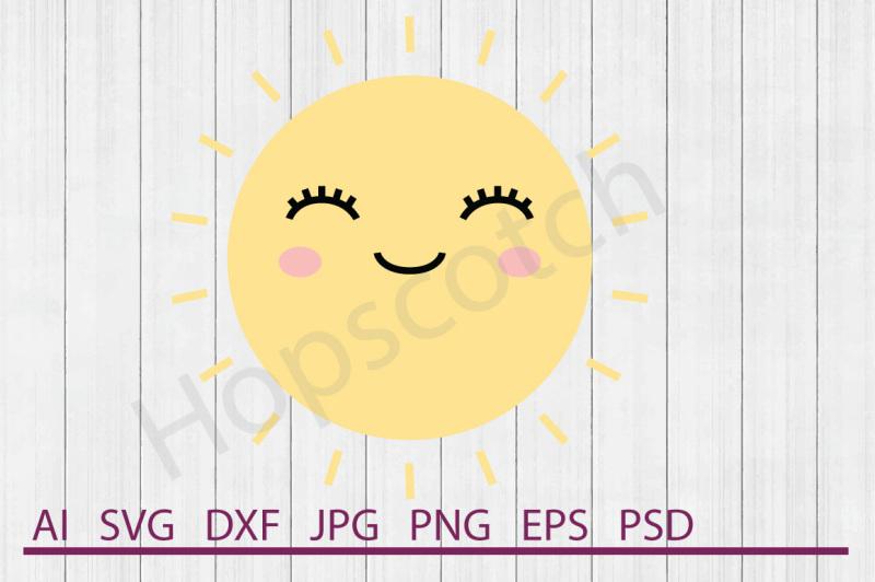 Sun Svg Sun Dxf Cuttable File By Hopscotch Designs