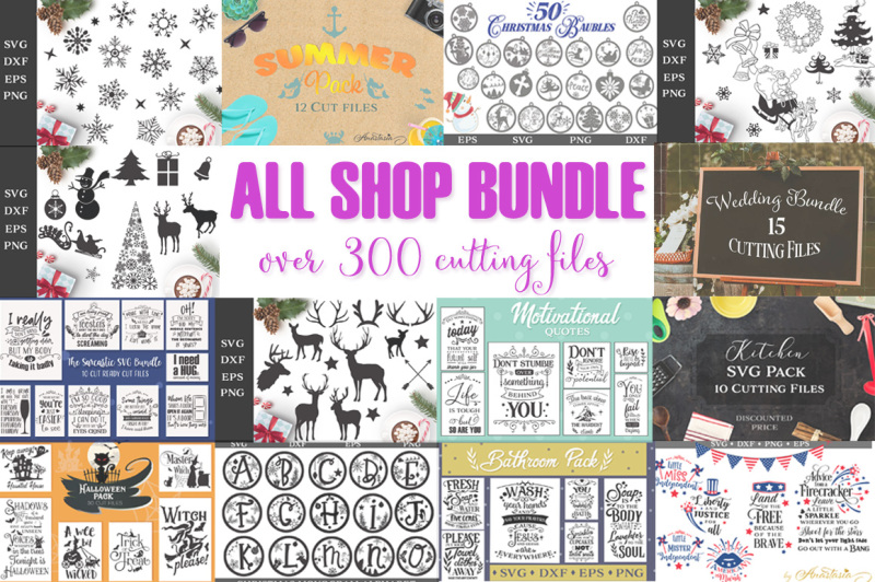 ce15ff50e6 All Shop SVG Bundle - Over 300 cutting files - Limited Promotion By ...
