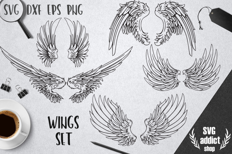 Wings Set Svg Pack By Svg Addict Shop Thehungryjpeg Com