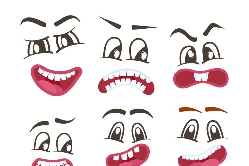 Funny Smileys Faces Isolated Icon Set By Alfazet Chronicles