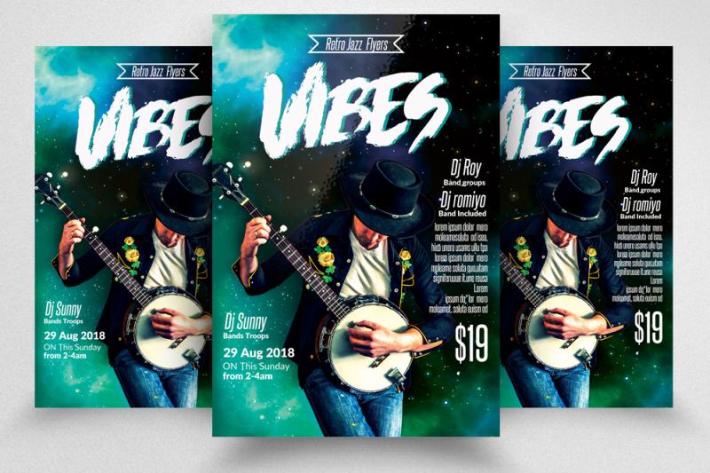 Music Night Flyer Template By Designhub | TheHungryJPEG com