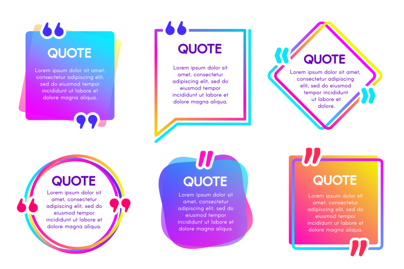 Quote Info Box Text Remark Frame Quotes Reference Label And