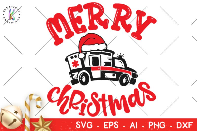 Nurse Christmas Svg.Christmas Svg Ambulance Nurse Hat Svg Christmas By