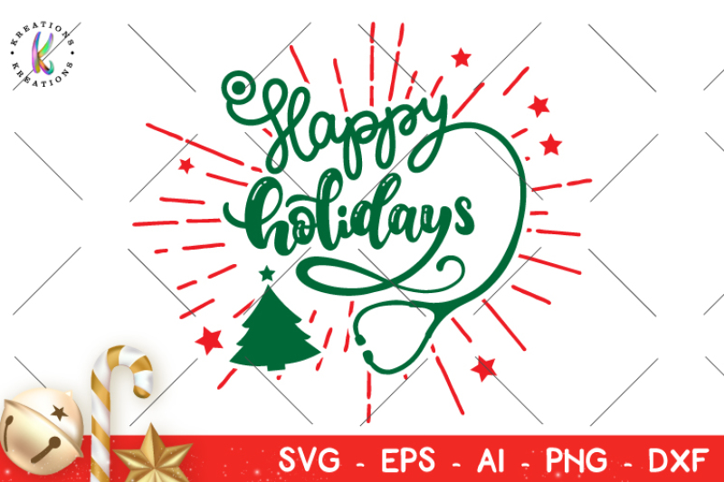 Nurse Christmas Svg.Happy Holidays Svg Christmas Nurse Svg By Kreationskreations