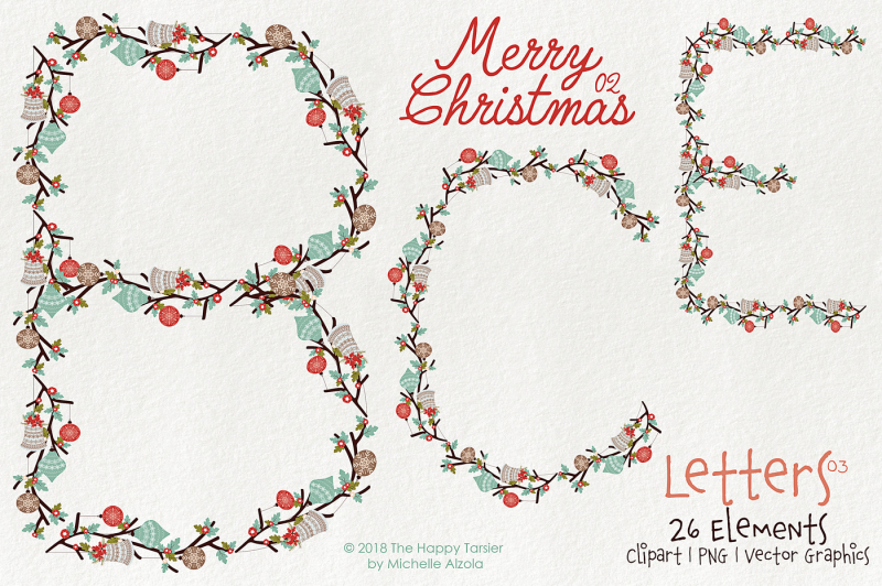 Christmas 02 Letters 03 Vector And Clipart By Michelle Alzola