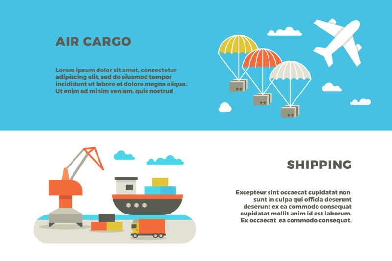 Delivery Cargo Transportation And Logistics Service Vector