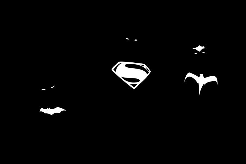 DC Trinity Superheroes Illustration By Firefly