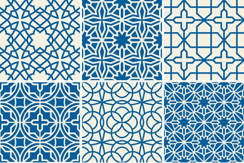 Turkish texture vector semless patterns By Microvector