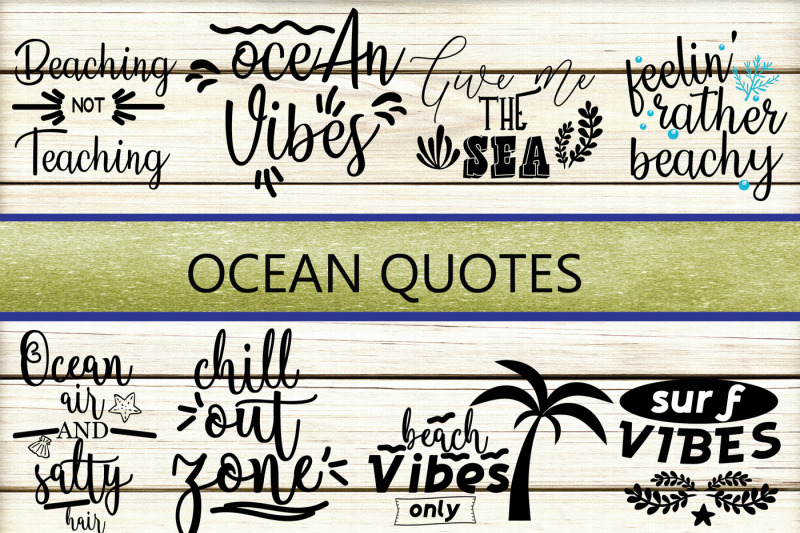 Ocean Quotes Svg By Yamini Thehungryjpeg Com