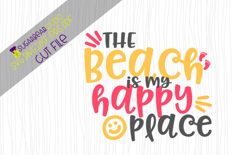 The Beach Is My Happy Place Svg By Sugar Bear Studio