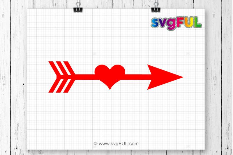 Arrow Svg Arrow Heart Svg Arrow Cutting File Arrow Clipart Svg