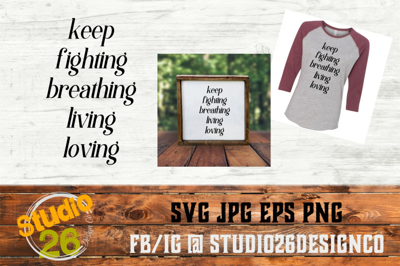 Keep Fighting Suicide Prevention Svg Png Eps By Studio 26