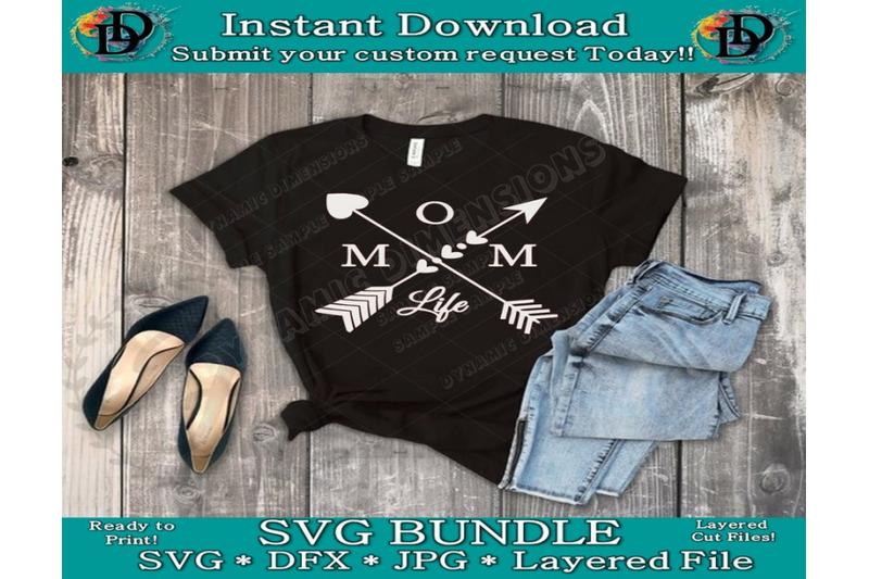 Mom Life Svg Arrow Mom Svg Mom Life Clipart Cut File Digital