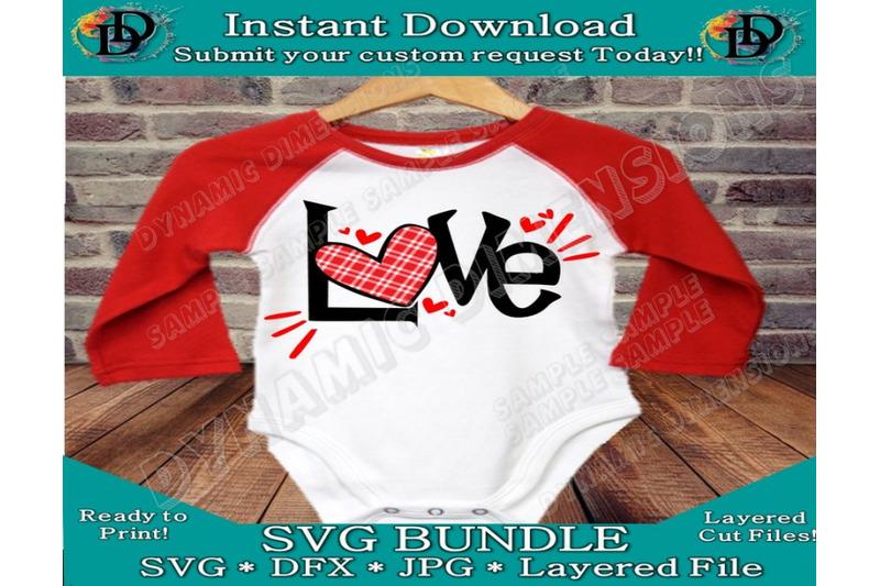 Valentine S Day Svg Love Svg Love Buffalo Plaid Svg Dxf Png