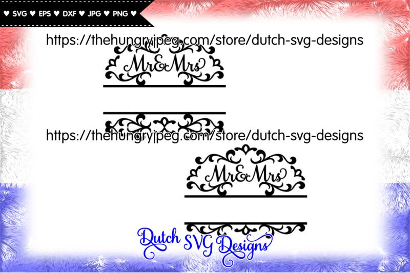 2 Split Monogram Mr And Mrs Cut Files Monogram Svg Split