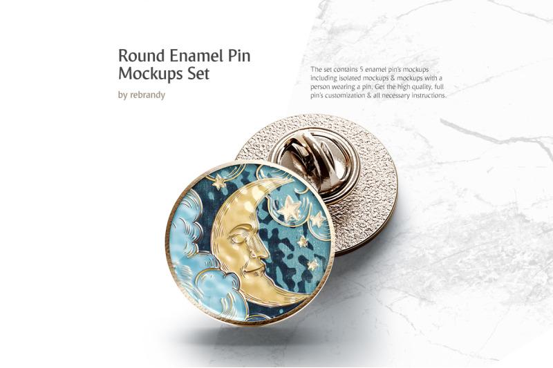 Download Enamel Pin Psd Mockup Yellowimages
