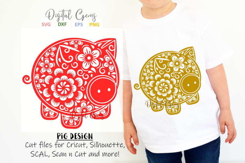 Pig Chinese New Year Design By Digital Gems Thehungryjpeg Com