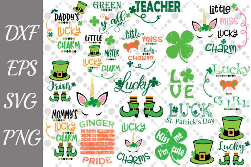 St Patrick S Day Svg Bundle Lucky Charm Svg Irish Quotes Svg By