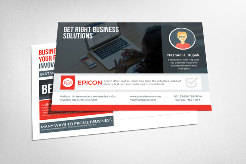 Agency Corporate Business Postcard Template By Business Templates