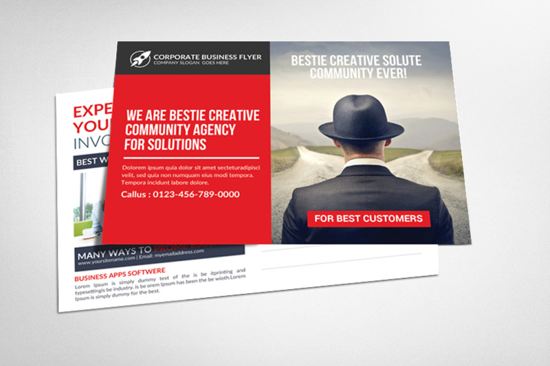 Global Business Postcards By Business Templates | TheHungryJPEG com